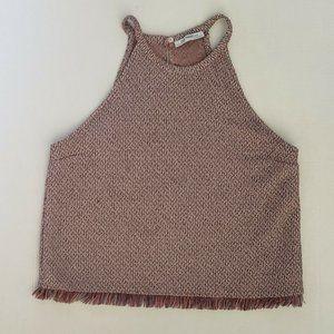 Zara Trafaluc Women's Size S Shirt Top Halter Crop